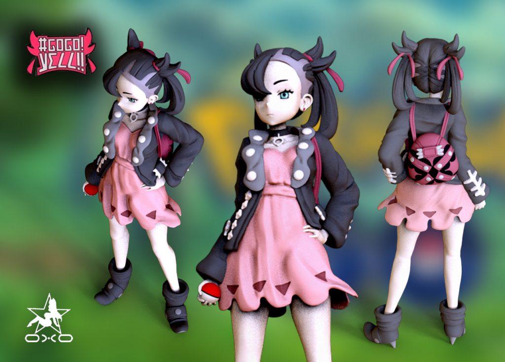 Marnie Pokemon 3D Print Model