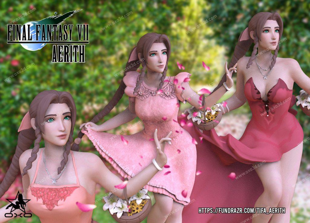 Aerith 3D Print STL - Final Fantasy VII Remake