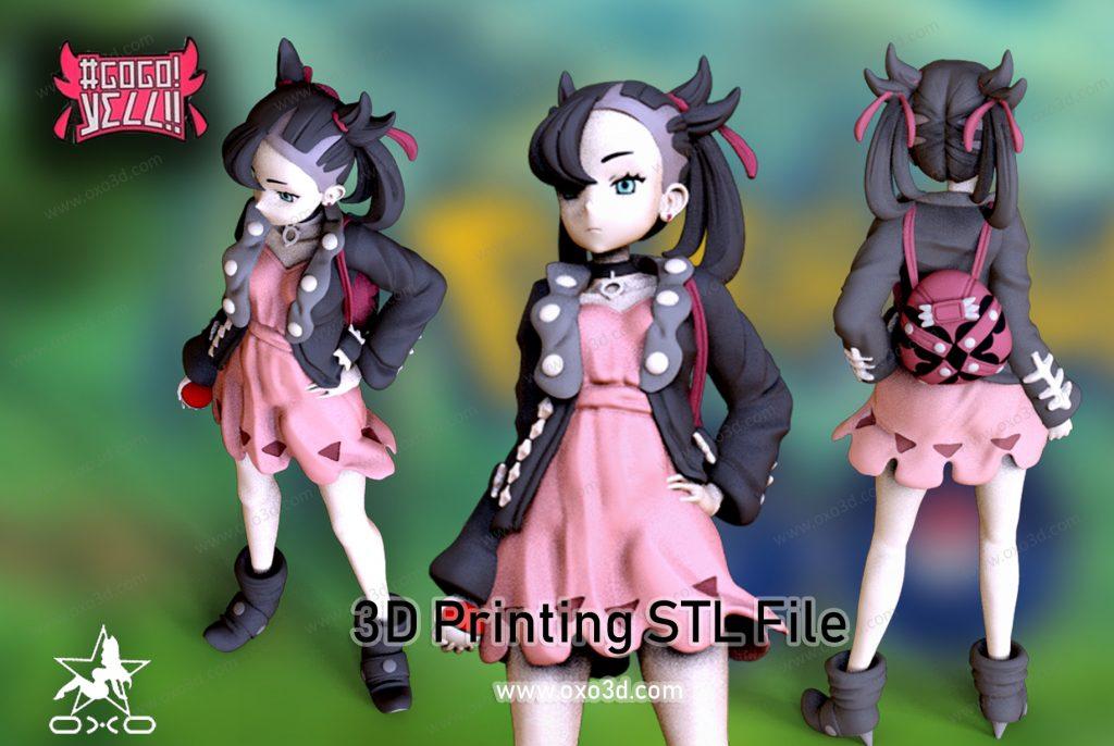 Marnie with Jacket 3D Print STL - Pokemon