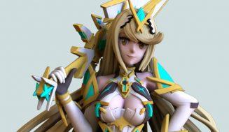 Xenoblade Chronicles 2 3D Model For Printer – Mythra Figure